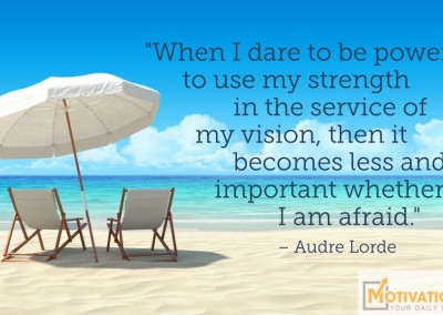 Day 66 Quote by Audre Lorde