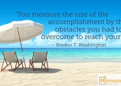 Day 72 Quote by Booker T Washington